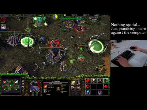Warcraft 3 Daily 魔兽3日常(Echo Isle) Practicing micro against t