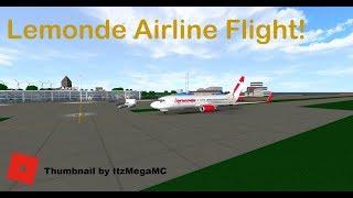 Premium Economy Lemonde Airlines Flight! - ROBLOX Airlines Group -