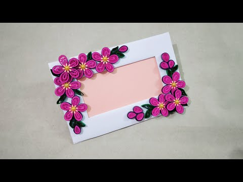 Easy and beautiful quilling photo frame / Quilling paper art photo frame
