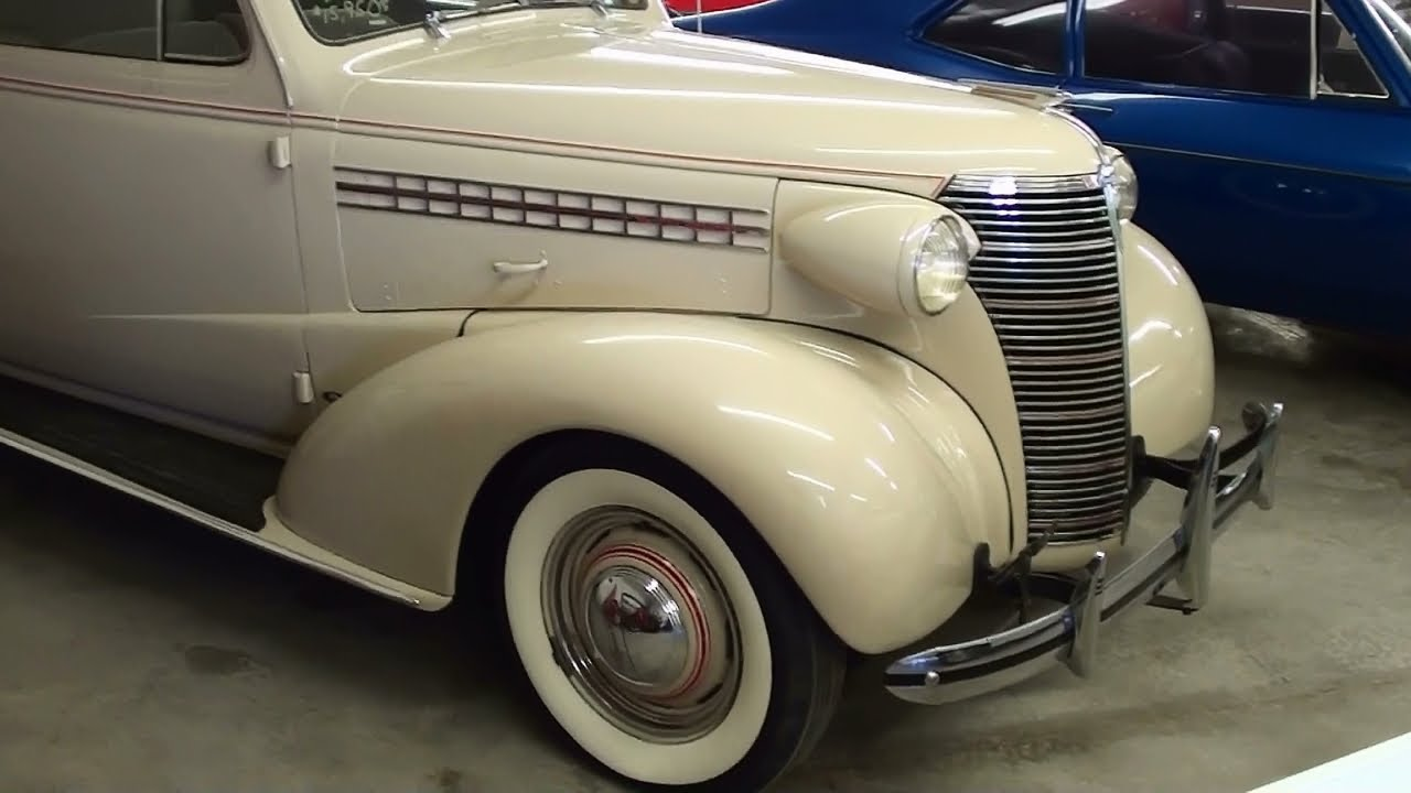 1938 Chevy Coupe >> 1938 Chevrolet Master Deluxe 2 dr Sedan - YouTube