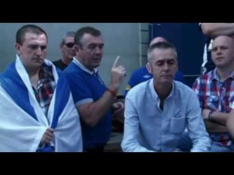 Loyalist Rangers Fans Supporting Israel In Conflict