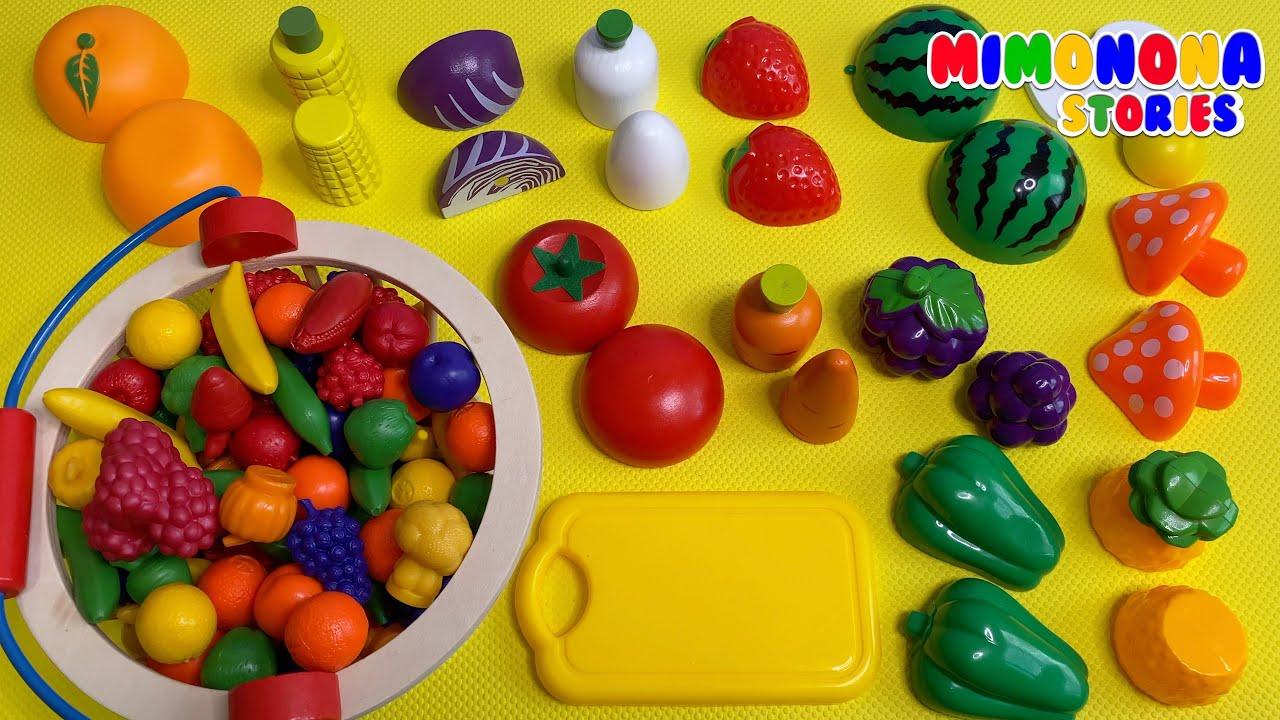 Alimentos de juguete para niños 🍎🍇 Videos educativos ✨ Mimonona Stories