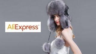 Видео-обзор с Aliexpress - Женская меховая шапка-ушанка с натуральным лисьим мехом