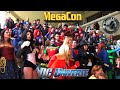 DC Heroes & Villains Take Over MegaCon EPIC FLASH MOB COMIC CON INVASION Batman Wonder Woman