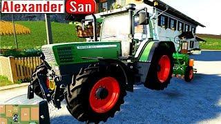 Цветной #Трактор с прицепом Спецтехника в работе Трактор для детей Мультик Игра Farming Simulator 19