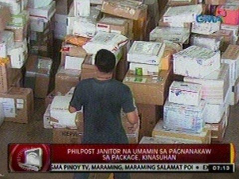 24 Oras: Pagkuha ng package ng isang janitor ng Philpost, huli sa CCTV