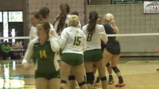 Tech Volleyball vs. East Central Highlights - 10/8/16