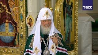 Патриарх Кирилл освятил храм Воскресения Христова в Сретенском монастыре