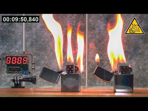 Оригинальная Zippo против Подделки 🔥 Какая горит дольше ?