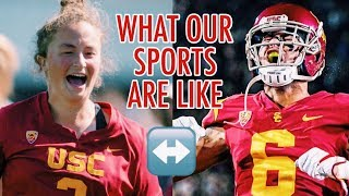 USC ATHLETES SWITCHING SPORTS FOR A DAY (ft. Michael Pittman Jr.)