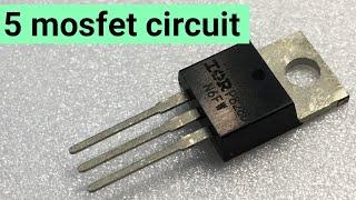5 Easy circuit using mosfet irfz44