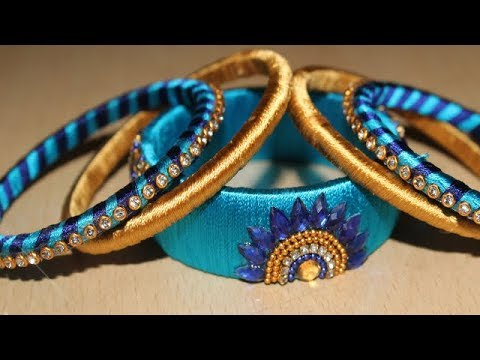 How To Make Designer Model Silk Thread Bangles Set At Home Diy New Ideas Latest Thread