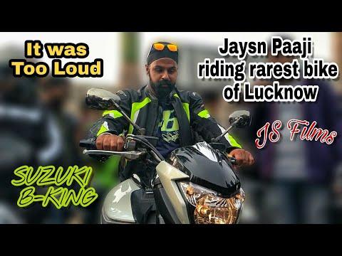 Jaysn Paaji riding Suzuki BKing || JS Films || Loudest Rev Bomb || Lucknow xBhp Meetup