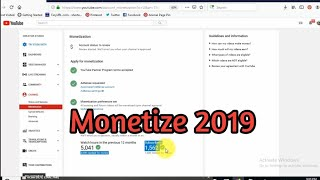 How to  monetize on youtube videos in 2019 - ស្នើសុំរកប្រាក់