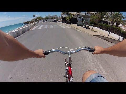 Biking on the Mediterranean coast [GOPRO]