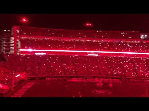 Sanford Stadium Krypton Light Up Vs Notre Dame 9-23-2019