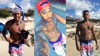 Swam 800 Meters & Saw A Shark!! | Lewis Hamilton Snapchat Vlog