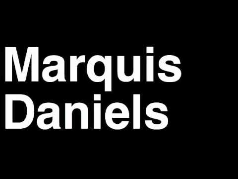How to Pronounce Marquis Daniels Boston Celtics NBA Basketball Slam Dunk Free Throw Shot