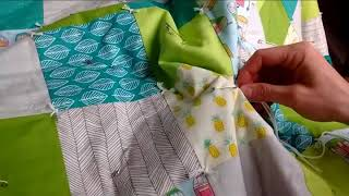 How to Tie a Quilt Without Frames