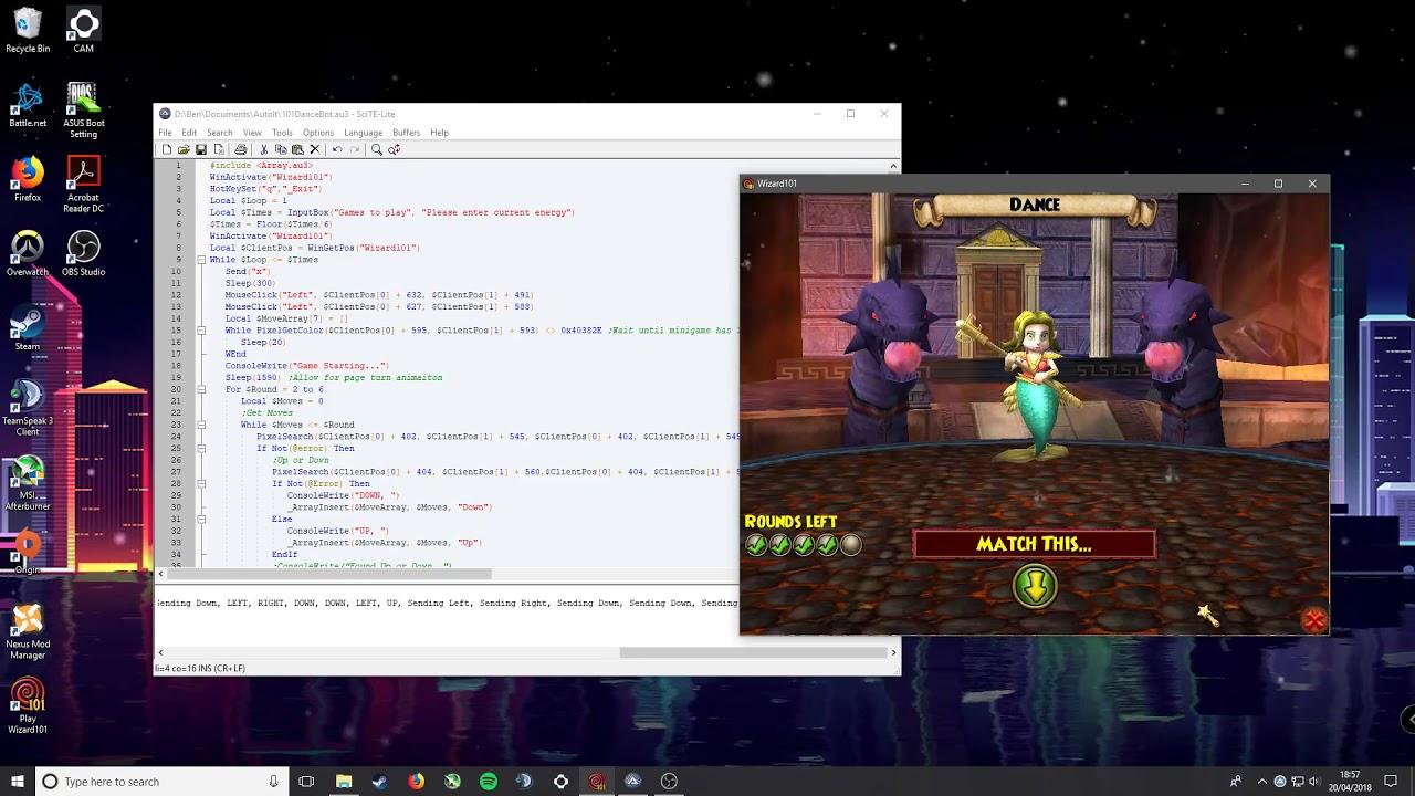 Wizard101 Dance Minigame Bot