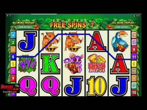Huge Wins -  Free Games Bonus -  Bush Telegraph Online Slots Review