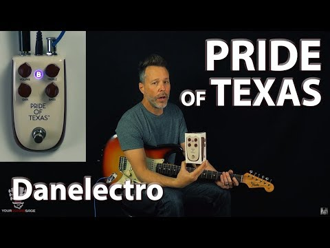 Billionaire Pride Of Texas Danelectro Overdrive Pedal (Demo)