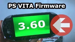Comment mettre à jour la ps vita en firmware 3.60 : le tuto