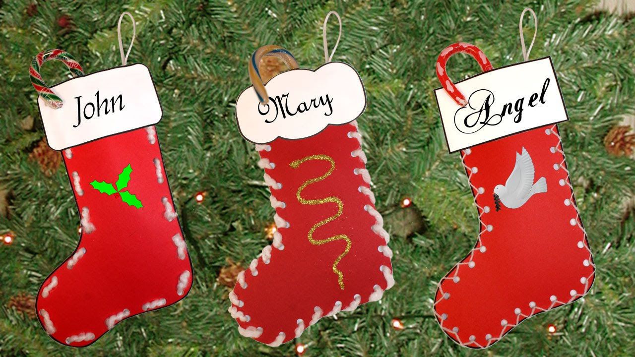 Marvelous Christmas Stocking Craft Ideas Part - 3: Easy Christmas Stocking Craft