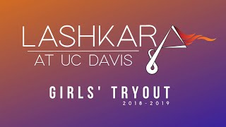 UCD Lashkara | Girls' Tryout | '18'-'19