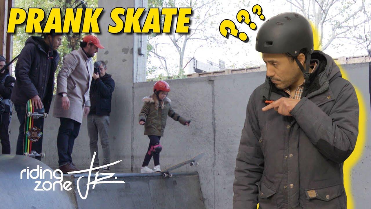 PRANK : elle piège un prof de skate !