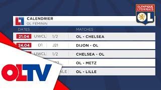 OL ACCESS : Le calendrier des lyonnaises | Olympique Lyonnais
