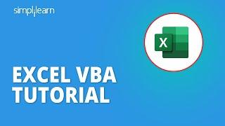 Excel VBA Tutorial | Excel VBA Programming | VBA For Beginners | Excel Tutorial | Simplilearn