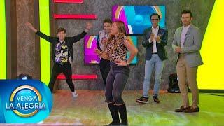 ¡Ana Lago demostró lo buena bailadora que es en Gánale al Capi! | Venga La Alegría