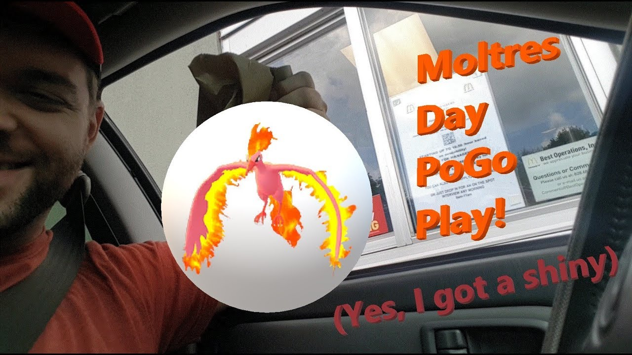 Moltres Day Pokemon Go In Asheville NC One Shiny Catch
