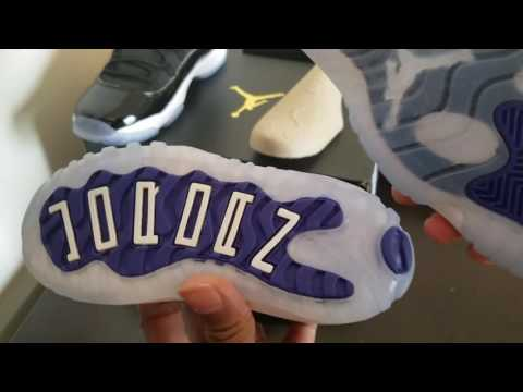 Vlog 38 Jordan 11 Space Jam Kid Youth Vs Toddler Youth Vs Adult Size Compared XI 45