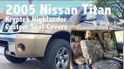 2005 Nissan Titan Kryptek Highlander Custom Seat Covers