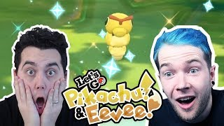 DANTDM vs aDRIVE! SHINY RACE in Pokemon Let's GO Pikachu and Eevee!