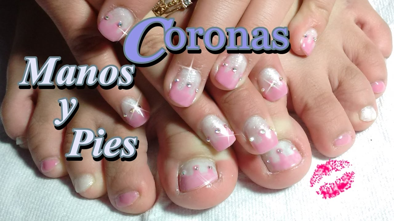 Uñas Decoradas Manos Y Pies Coronas Youtube