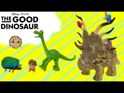 Disney Pixar The Good Dinosaur Movie Toys Arlo, Spot, Forrest Woodbush - Cookieswirlc Video