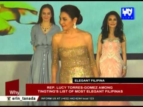 Rep. Lucy Torres-Gomez among Ting-ting's list of most elegant Filipinas