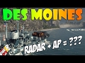 World of Warships - Des Moines Radar + AP = ???