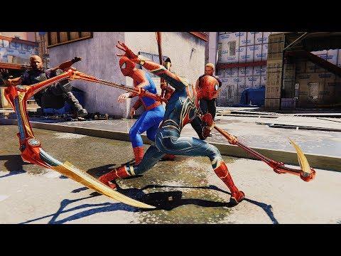 Spider-Man PS4 - Infinity War Spider-Man & Fake Spider-Man Team Up Gameplay