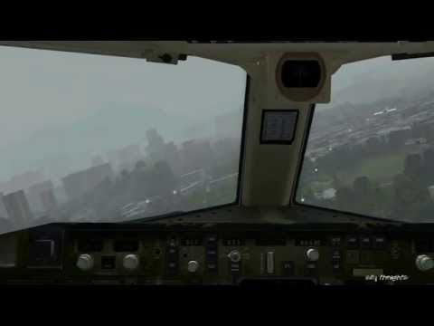 【HD FSX】 World's Most Dangerous Airports ✈ Kai Tak Approach Simulated Travel Video