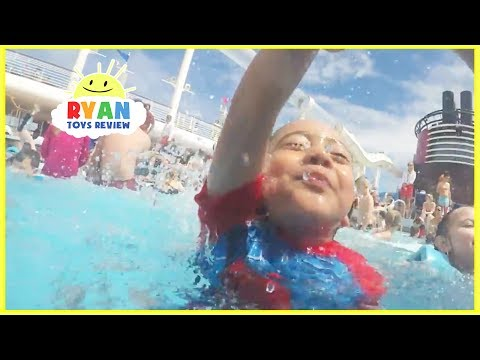 DISNEY CRUISE Fantasy Tour Family Fun Vacation! Splash Pad Pool Kids Playtime Compilation Video