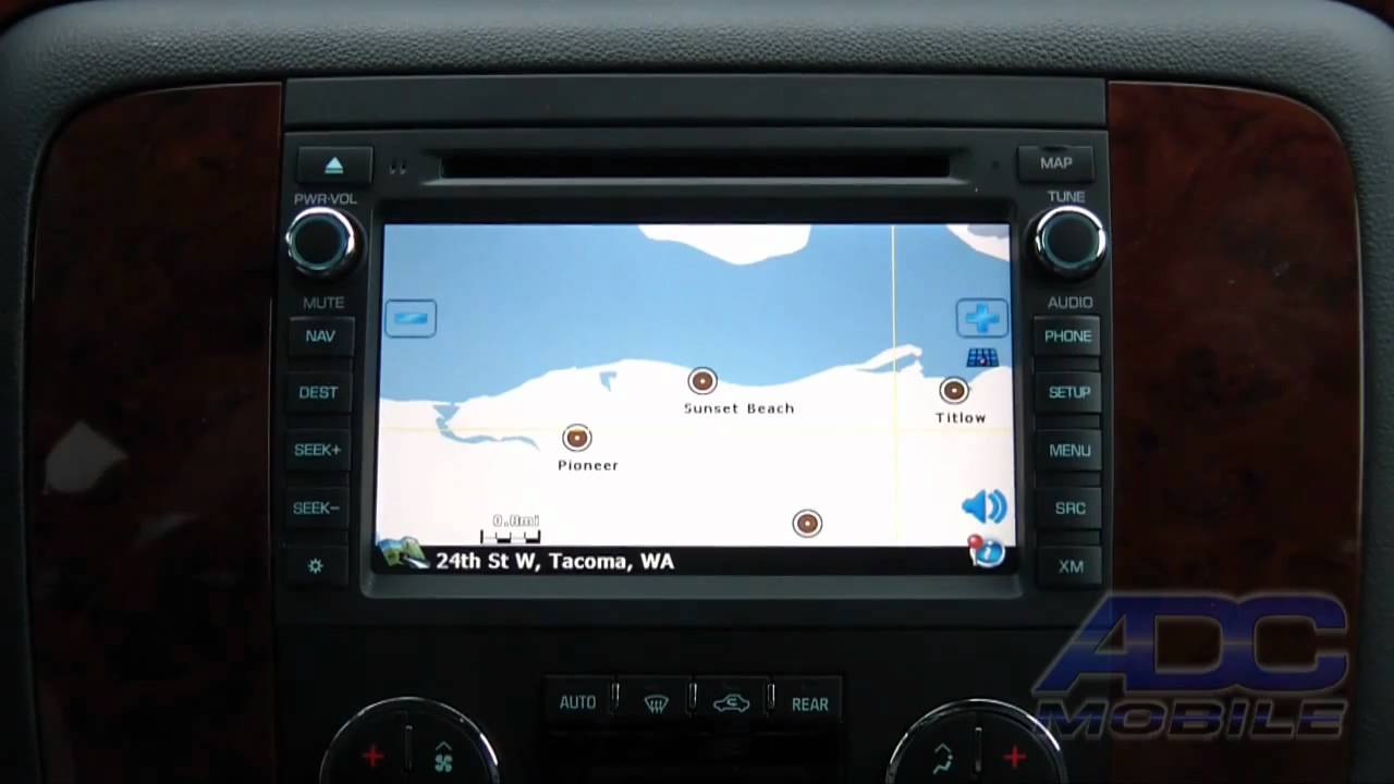 2007 11 chevrolet tahoe advent oe navigation navigation system operation youtube
