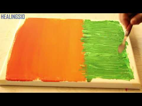 Anybody can Paint/Acrylic Painting/#16/Easy Art For Beginners/Field Landscape/Abstract painting