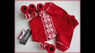 Свитер для собаки и пинетки-ботиночки (Knitting for dogs)