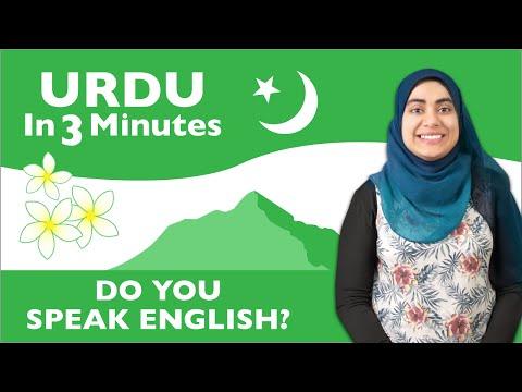 Urdu in Three Minutes - Do You Speak English?