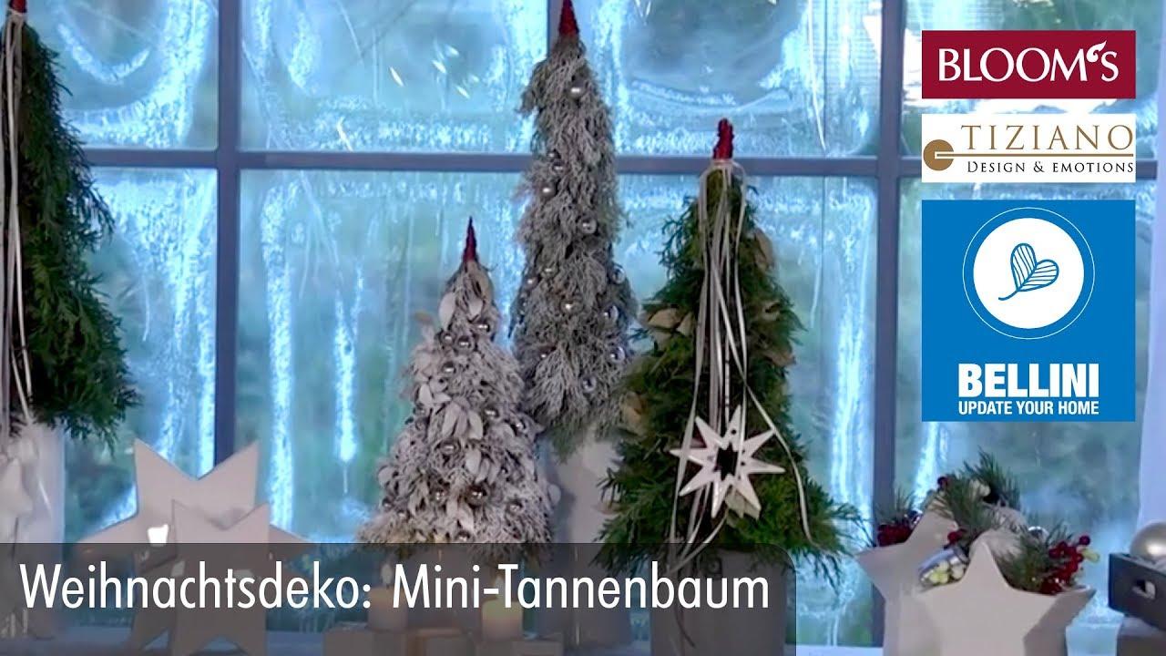Weihnachtsdeko: Mini-Tannenbaum - YouTube