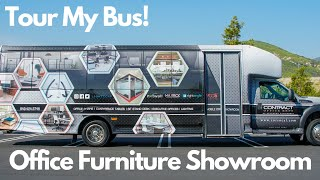 Coolest Mobile Office Furniture Showroom | Contract Office Reps of Southern California